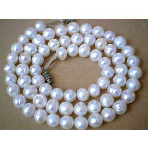 SUPERB QUALITY & BEAUTIFUL 7-8MM FW PEARL NECKLACE 50CM