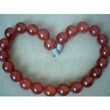 SUPERB QUALITY NATURAL 8MM RED AGATE BRACELET