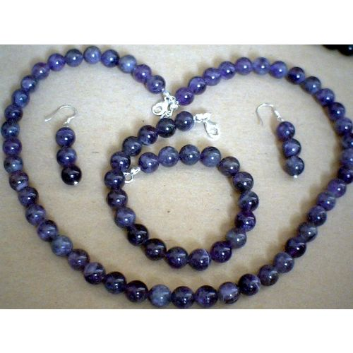 DELIGHTFUL & REAL AMETHYST SET & 925 STERLING SILVER