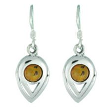 BALTIC AMBER EARRING WITH 925 STERLING SILVER 3.8G