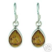 BALTIC AMBER EARRING WITH 925 STERLING SILVER 6.1G