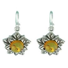 BALTIC AMBER EARRING WITH SOLID 925 STERLING SILVER 6G