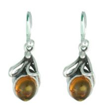 SUPERB AMBER EARRING WITH SOLID 925 STERLING SILVER 4G