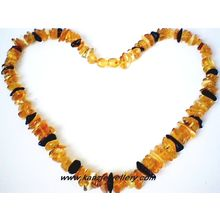 SUPERB QUALITY NATURAL BALTIC AMBER CHIPS NECKLACE