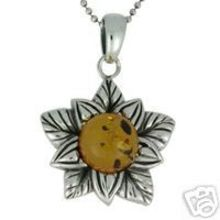 REAL AMBER PENDANT WITH SOLID 925 STERLING SILVER 8.7G