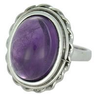 REAL AMETHYST RING WITH SOLID 925 STERLING SILVER