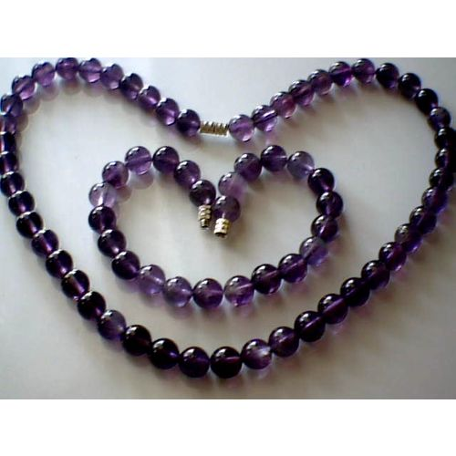 SUMPTUOUS & GENUINE 8MM AMETHYST SET