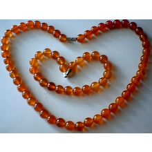 SUMPTUOUS & GENUINE 8MM CARNELIAN SET