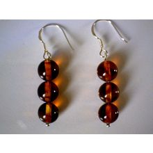 SUPERB BALTIC AMBER EARRING WITH 925 STERLING SILVER