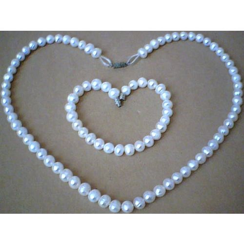 SUMPTUOUS & GENUINE FW PEARL SET NECKLACE / BRACELET
