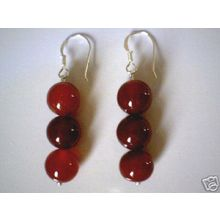 GRADE A NATURAL AGATE EARRINGS & 925 STERLING SILVER