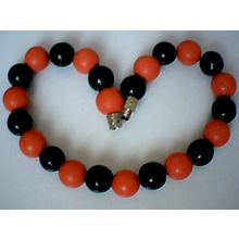 EXCELLENT QUALITY & GENUINE 10MM BLACK AGATE BRACELET