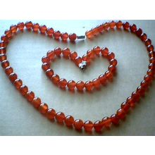 DELIGHTFUL & GENUINE 8MM RED AGATE SET
