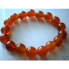EXCELLENT QUALITY REAL 10MM RED AGATE BRACELET